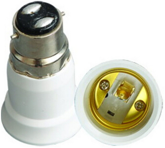 Bayonet B22 to E27 light bulb socket adapter