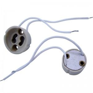 Porcelain GU10 lamp holder for LED / Halogen lamps