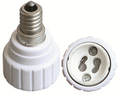 E11 to GU10 light bulb socket adapter