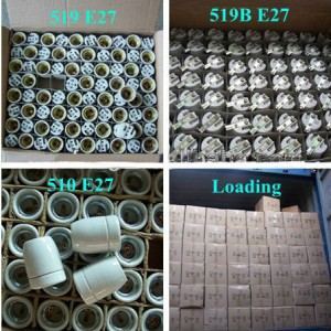 E14 Ceramic lamp base packing