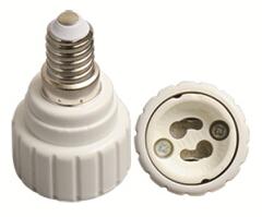 E14 to GU10 light bulb socket adapter