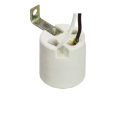 E26 F012B brass lamp holder with bracket M10X1 hole and cord