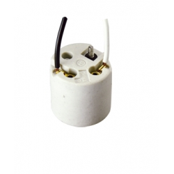E26 F310 ceramic lamp base with cords