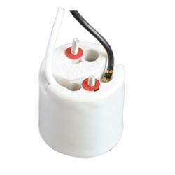 E26 F312 ceramic lamp base with cord