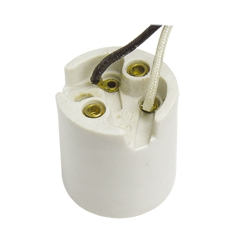 E26 F313 ceramic lamp base with cord