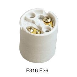 E26 F316 ceramic lamp base