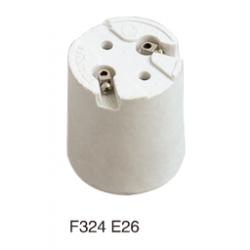 E26 F324 ceramic lamp base