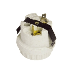E26 F329 brass lamp holder with bracket