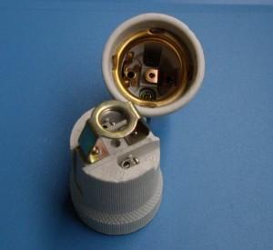 E27 519D porcelain lamp holder