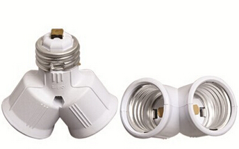 E27 to 2E27 light bulb socket adapter
