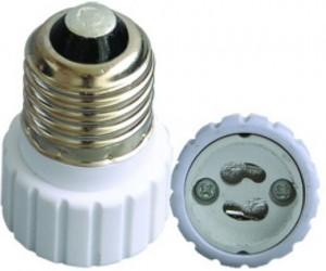 Porcelain E27 to GU10 light bulb socket adapter