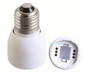 E27 to GU24 light bulb socket adapter