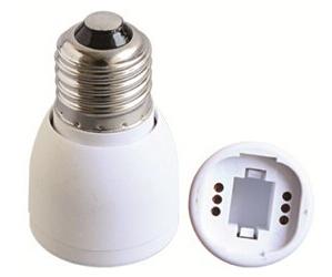 E27 to GU24 light bulb socket adapter