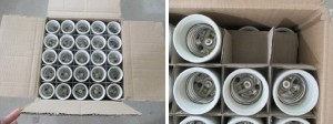 E40 light bulb socket packing
