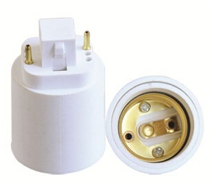 G24 to E27 2Pin light bulb socket adapter with CE
