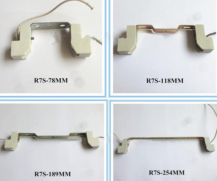 R7S halogen light socket 78mm 118mm 138mm 189mm 254mm