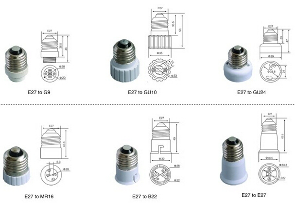 light bulb adapter China manufacturer