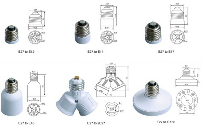 light bulb socket adapter & light bulb adapter China manufacturer