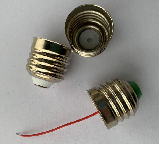 E27 lamp cap cord wires