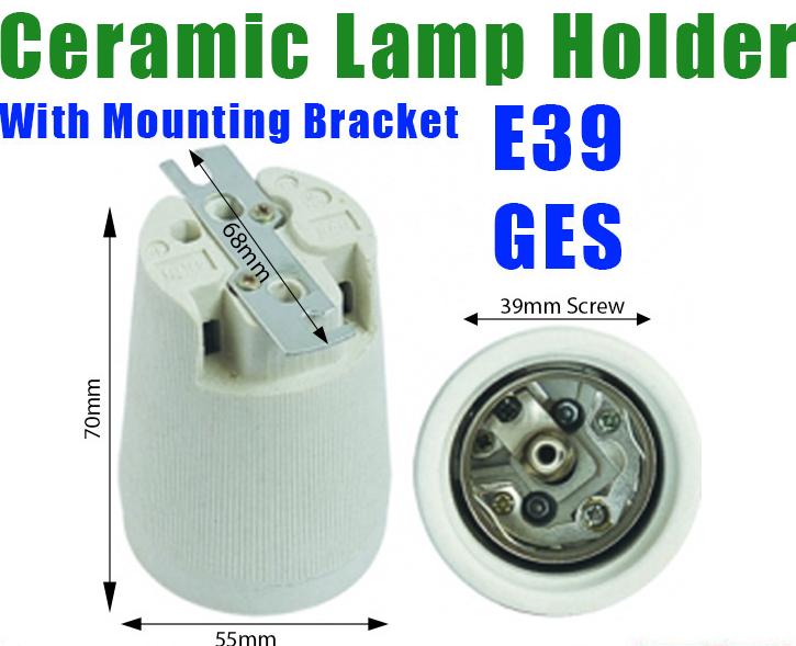 E39 E40 Mogul Edison Screw Ceramic Lamp Holder Socket With Mounting Bracket Dimensions