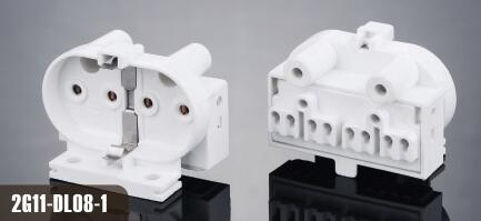 Surface mounted 2g11 lamp holder for led lamps