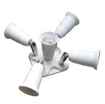 5 in 1 studio E27 lamp holder splitter
