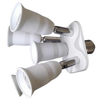 5 in 1 studio E27 lamp socket splitter