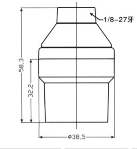 Bakelite E26 bulb socket smooth skirt and lock screw drawing diagram