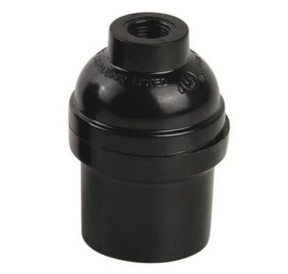 Bakelite E26 bulb socket smooth skirt and lock screw