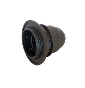 Black Lamp Socket E27 Half Threaded