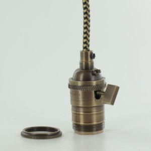 Brass E26 vintage lamp sockets