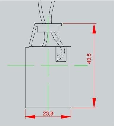 E12 Edison Screw ceramic bulb socket Drawing