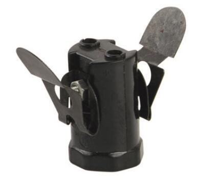 Bakelite E12 light bulb socket smooth skirt & Push-in terminal