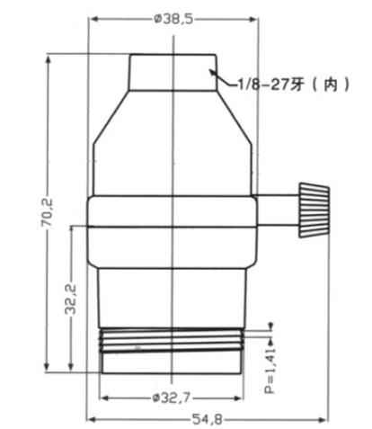 E26 brass light socket diagram