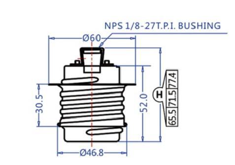 E26 ceramic Medium ES lamp holder with metal shell