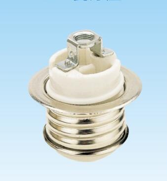 E26 ceramic Medium ES lamp holder with metal shell 808
