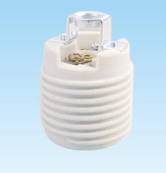 E26 ceramic Medium ES light bulb socket with rivet bracket