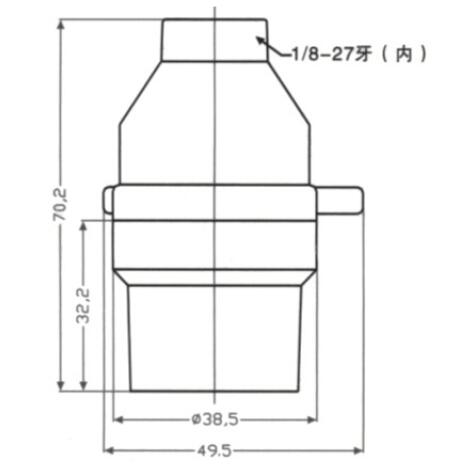 E26 lamp sockets smooth skirt and lock screw