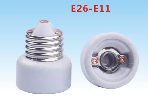 E26 to E11 light bulb socket adapter