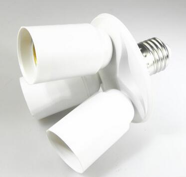E27 E40 to 3 E27 lamp holder splitter