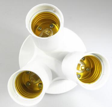E27 E40 to 3 E27 light bulb socket splitter