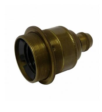 E27 brass light socket with earth wire