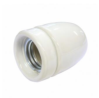 White High Gloss Ceramic (Porcelain) E27 bulb holder H510