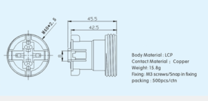 E27 plastic socket model 1 drawing