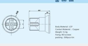 E27 plastic socket model 2 drawing