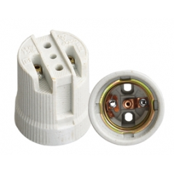 E27 porcelain lamp holder white