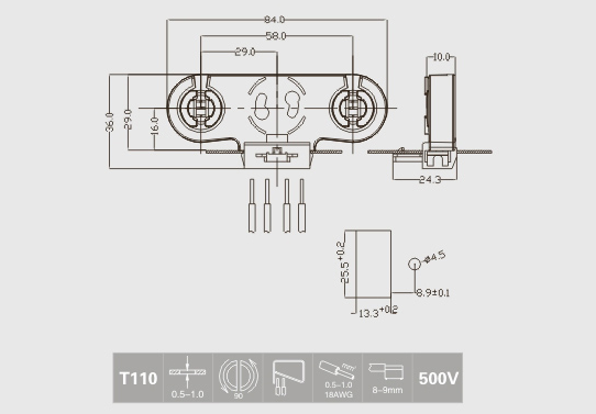 G13 twin fluorescent tube holder for t8 led tubes