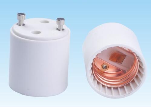 GU24 to E26 plastic lamp holder adapter