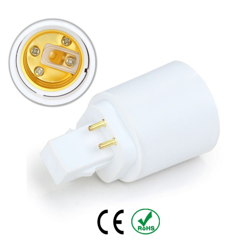 Gx24 to E26 & E27 adapter 4 pin cfl to led conversion