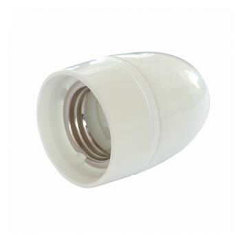 High Gloss Ceramic lamp e27 holder white